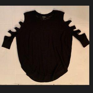 Oversized cutout round bottom sweater size S